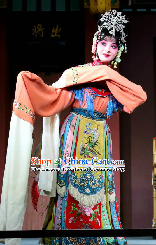 Chinese Sichuan Opera Consort Yang Garment Costumes and Hair Accessories The Palace of Eternal Youth Love Traditional Peking Opera Hua Tan Dress Actress Apparels