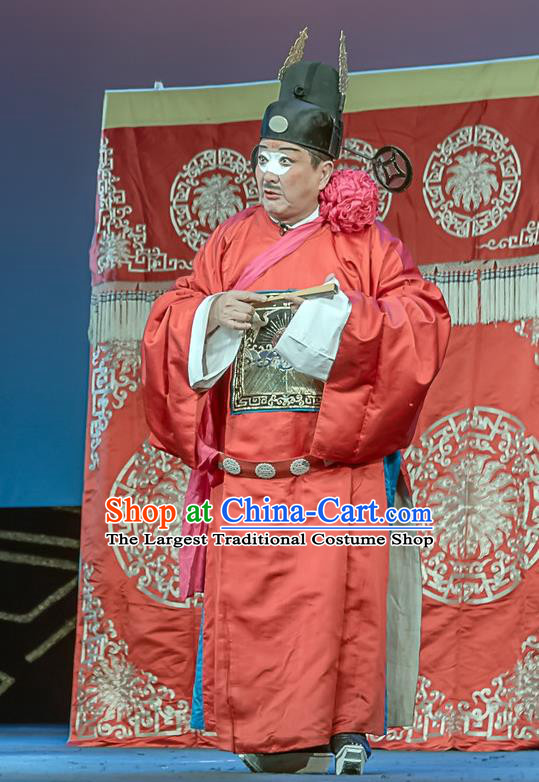 Ci Tang Chen Chinese Sichuan Opera Clown Tang Chen Apparels Costumes and Headpieces Peking Opera Minister Garment Magistrate Clothing