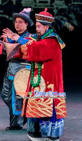 Scholar of Ba Shan Chinese Sichuan Opera Infante Apparels Costumes and Headpieces Peking Opera Royal Highness Garment Elderly Male Clothing