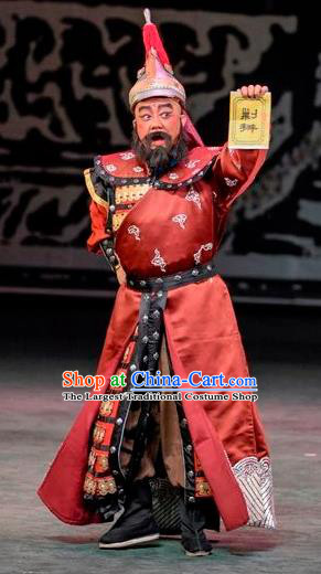 Scholar of Ba Shan Chinese Sichuan Opera General Apparels Costumes and Headpieces Peking Opera Martial Male Garment Li Youheng Clothing