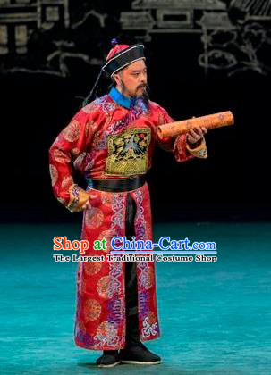 Scholar of Ba Shan Chinese Sichuan Opera Minister Zhang Zhidong Apparels Costumes and Headpieces Peking Opera Official Garment Clothing