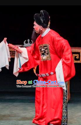 Qin Xianglian Chinese Sichuan Opera Minister Apparels Costumes and Headpieces Peking Opera Official Chen Shimei Garment Clothing