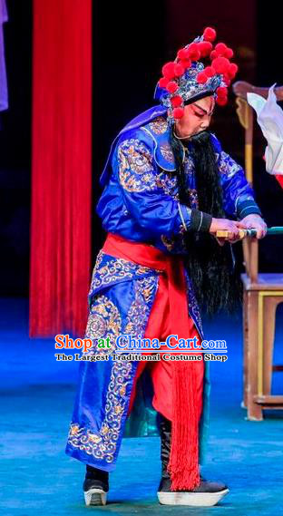Qin Xianglian Chinese Sichuan Opera Swordsman Apparels Costumes and Headpieces Peking Opera Martial Male Garment Assassin Clothing