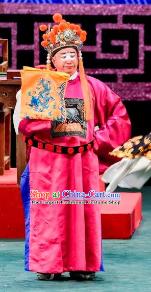 Qin Xianglian Chinese Sichuan Opera Eunuch Apparels Costumes and Headpieces Peking Opera Court Servant Garment Clothing