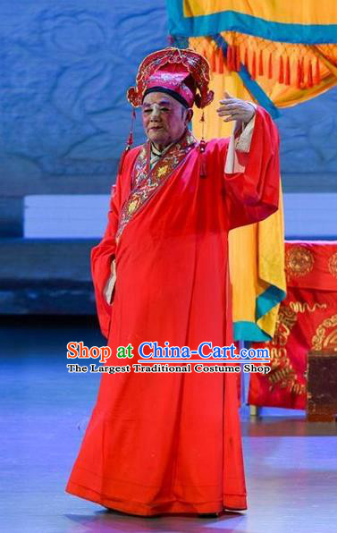 He Zhu Pei Chinese Sichuan Opera Bridegroom Apparels Costumes and Headpieces Peking Opera Xiaosheng Garment Scholar Zhao Peng Clothing