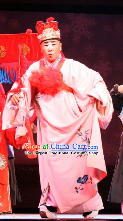 He Zhu Pei Chinese Sichuan Opera Landlord Huang Longgun Apparels Costumes and Headpieces Peking Opera Rich Man Garment Bully Clothing