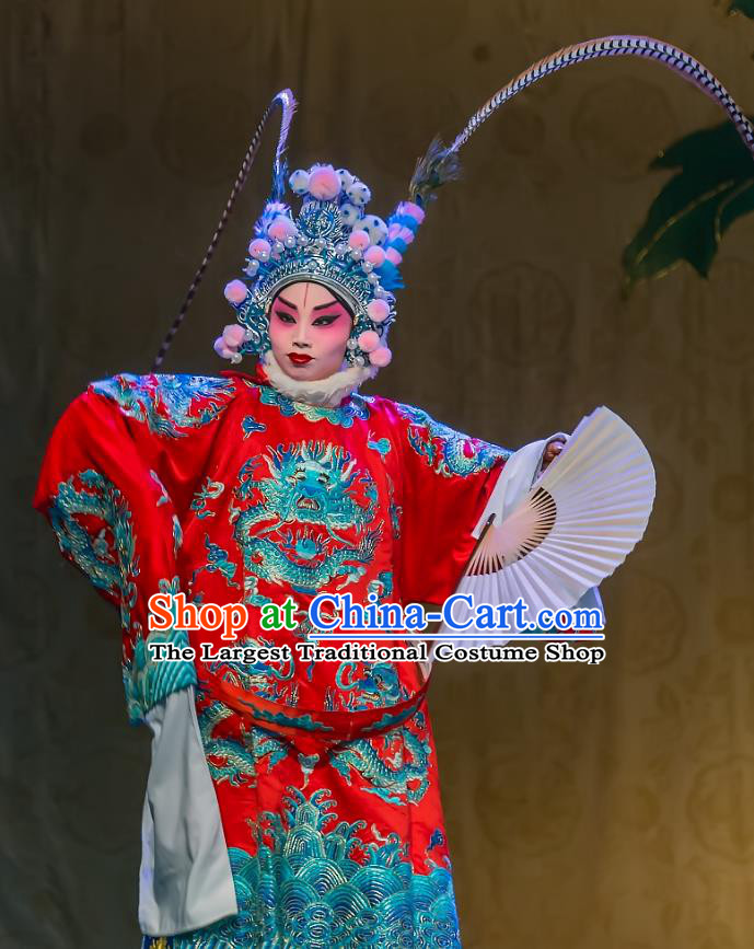 Chinese Sichuan Opera Tao Ma Tan Garment Costumes and Hair Accessories Traditional Peking Opera Martial Female Dress Yang Bajie Apparels