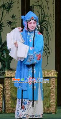 Chinese Beijing Opera Young Mistress Apparels Costumes and Headpieces Traditional Peking Opera Yu Bei Pavilion Hua Tan Meng Yuehua Dress Garment