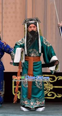 Changban Po Hanjin Kou Chinese Peking Opera Laosheng Liu Bei Garment Costumes and Headwear Beijing Opera Elderly Male Apparels Clothing