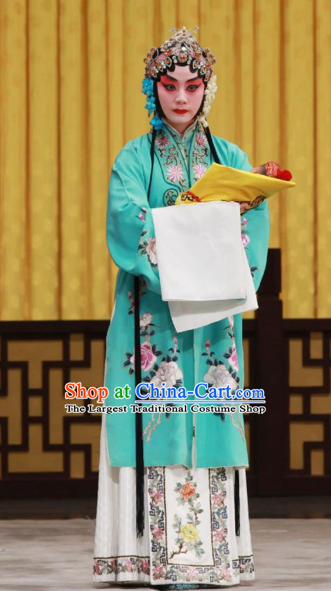 Chinese Beijing Opera Huadan Apparels Costumes and Headdress Da Bao Guo Er Jin Gong Traditional Peking Opera Diva Li Yanfei Dress Garment