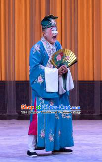 Da Ying Jie Lie Chinese Peking Opera Young Male Garment Costumes and Headwear Beijing Opera Bully Shi Wen Apparels Clown Clothing