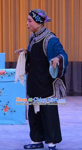 Chinese Beijing Opera Pantaloon Apparels Costumes and Headdress Da Ying Jie Lie Traditional Peking Opera Laodan Dress Dame Garment
