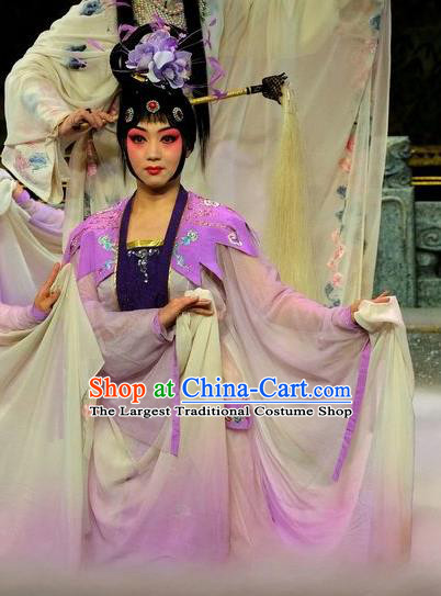 Chinese Beijing Opera Xiaodan Apparels Costumes and Headpieces Tai Zhen Wai Zhuan Traditional Peking Opera Goddess Garment Dress
