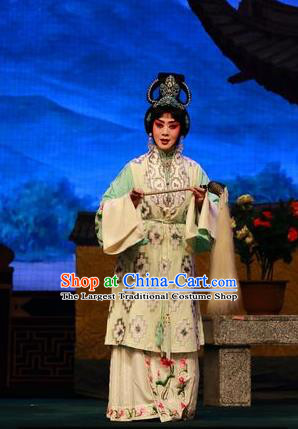 Chinese Beijing Opera Taoist Nun Yang Yuhuan Apparels Costumes and Headpieces Tai Zhen Wai Zhuan Traditional Peking Opera Actress Garment Dress