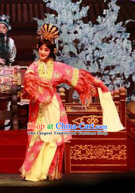 Chinese Beijing Opera Huadan Yang Yuhuan Apparels Costumes and Headpieces Tai Zhen Wai Zhuan Traditional Peking Opera Garment Young Female Dress