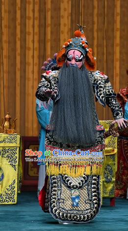 Sacrifice Zhao Shi Gu Er Chinese Peking Opera General Garment Costumes and Headwear Beijing Opera Elderly Male Wei Jiang Apparels Clothing