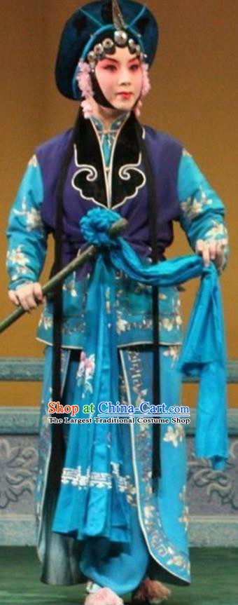 Chinese Beijing Opera Apparels Costumes and Headpieces Revenge of the Fisherman Traditional Peking Opera Fisher Maiden Xiao Guiying Dress Garment