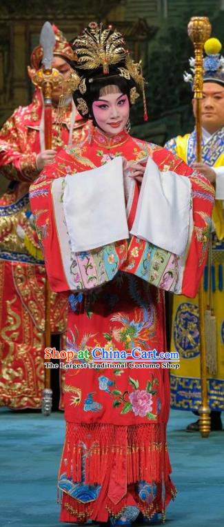 Chinese Beijing Opera Actress Yang Yuhuan Apparels Costumes and Headpieces Tai Zhen Wai Zhuan Traditional Peking Opera Diva Dress Imperial Consort Garment