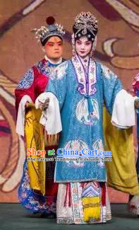 Chinese Beijing Opera Court Woman Xi Shi Apparels Costumes and Headdress Traditional Peking Opera Hua Tan Dress Garment