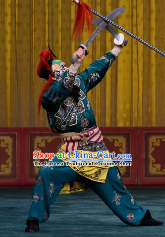 Yan Yang Tower Chinese Peking Opera Wusheng Garment Costumes and Headwear Beijing Opera Takefu Apparels Martial Male Clothing