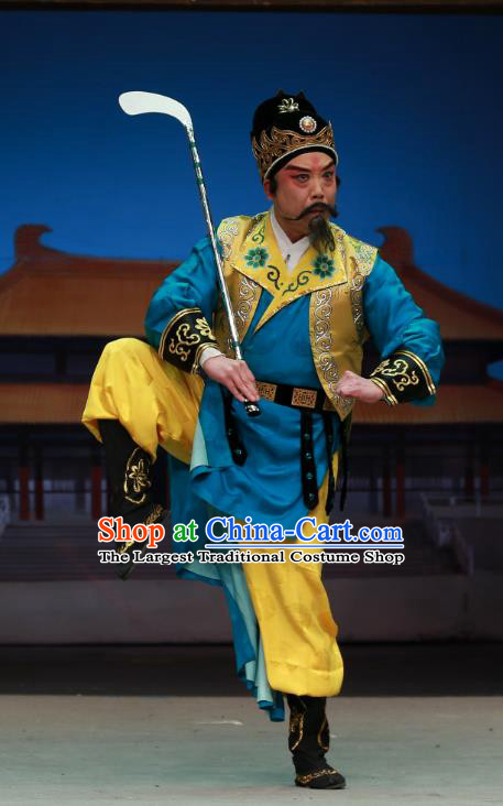 Chinese Peking Opera Official Zhen Guan Flourishing Age Garment Costumes and Headwear Beijing Opera Minister Zhangsun Wuji Clothing Apparels
