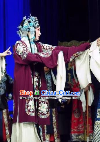 Chinese Beijing Opera Distress Maiden Apparels Costumes and Headdress The Mirror of Fortune Traditional Peking Opera Young Female Actress Dress Garment