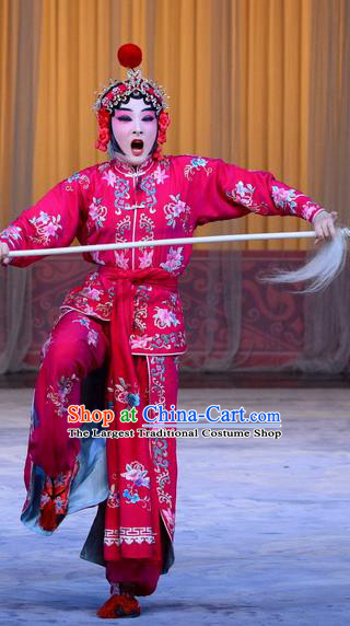 Chinese Beijing Opera Martial Girl Apparels Costumes and Headpieces Xin An Yi Traditional Peking Opera Swordsplay Female Luo Yan Dress Garment
