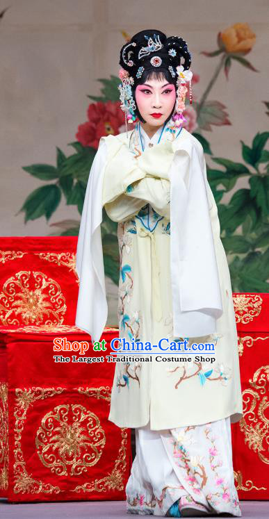 Chinese Beijing Opera Noble Consort Apparels Costumes and Headdress You Sisters in the Red Chamber Traditional Peking Opera Young Mistress You Erjie Dress Garment