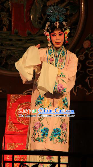Chinese Beijing Opera Distress Maiden Apparels Costumes and Headdress You Sisters in the Red Chamber Traditional Peking Opera Tsing Yi You Erjie Dress Diva Garment