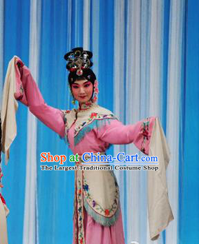 Chinese Beijing Opera Fairy Apparels Costumes and Headdress Hongqiao with the Pearl Traditional Peking Opera Xiaodan Young Lady Dress Garment