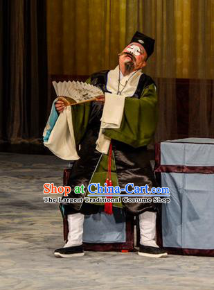 Stealing Silver Pot Chinese Peking Opera Chou Garment Costumes and Headwear Beijing Opera Elderly Male Apparels Landlord Clothing