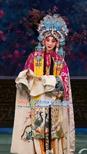 Chinese Beijing Opera Noble Female Apparels Court Lady Costumes and Headdress Imperial Concubine Mei Traditional Peking Opera Dress Hua Tan Garment