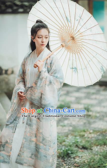 Chinese Ancient Female Swordsman Hanfu Dress Garment Traditional Historical Costumes Complete Set