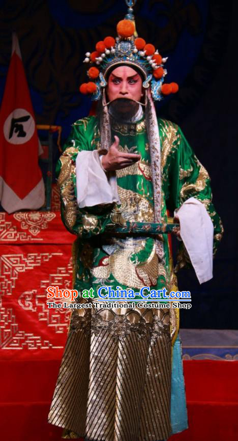 Xue Gang Fan Tang Chinese Bangzi Opera Official Xue Meng Apparels Costumes and Headpieces Traditional Shanxi Clapper Opera Military Officer Garment Elderly Male Clothing
