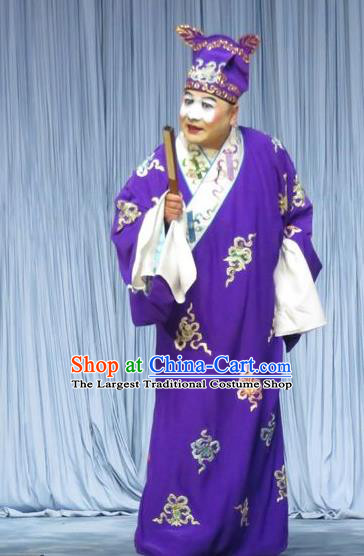 The Story of Jade Bracelet Chinese Bangzi Opera Clown Apparels Costumes and Headpieces Traditional Hebei Clapper Opera Bully Garment Childe Han Chen Clothing