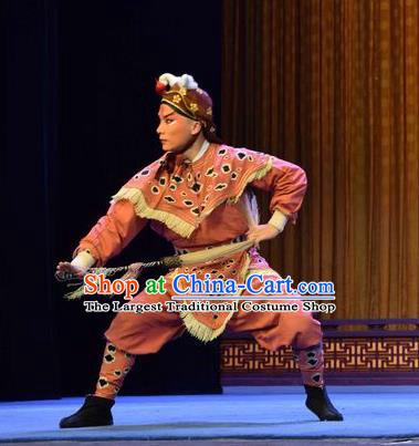 Madam White Snake Chinese Shanxi Opera Martial Male Apparels Costumes and Headpieces Traditional Jin Opera Wusheng Garment Swordsman Clothing