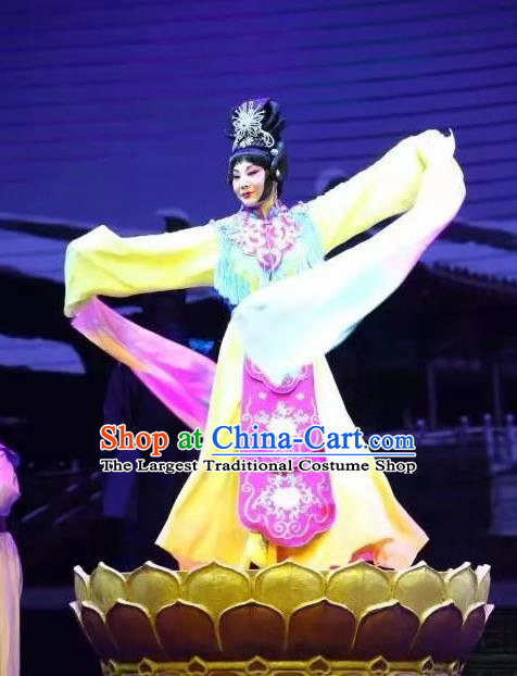 Chinese Hebei Clapper Opera Imperial Consort Shen Garment Costumes and Headdress Traditional Bangzi Opera Actress Dress Court Female Apparels