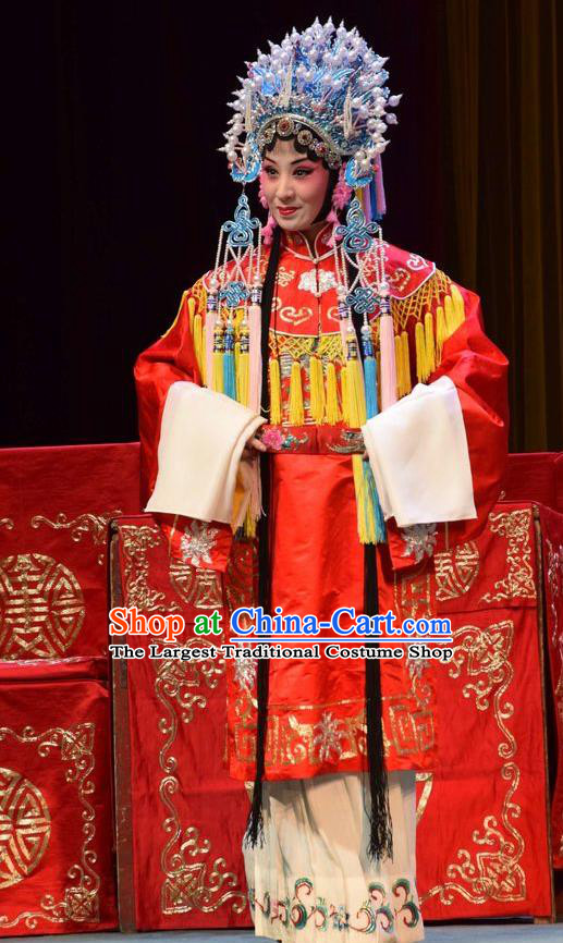 Chinese Jin Opera Princess Shengping Garment Costumes and Headdress Da Jin Zhi Traditional Shanxi Opera Hua Tan Dress Court Lady Apparels