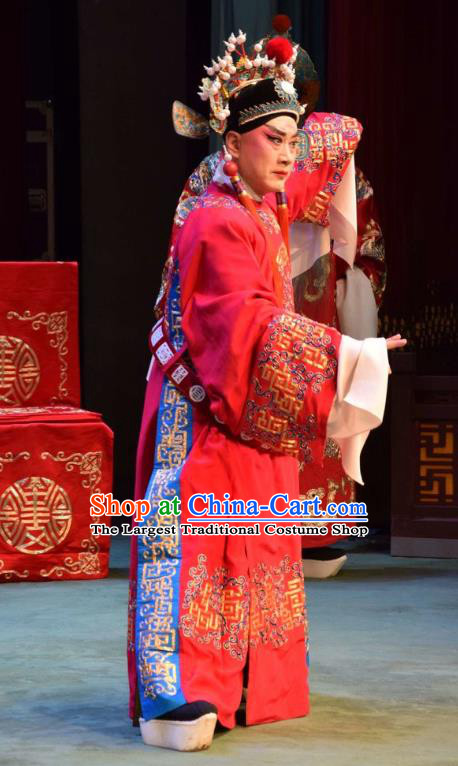 Da Jin Zhi Chinese Shanxi Opera Noble Childe Guo ai Apparels Costumes and Headpieces Traditional Jin Opera Young Male Garment Prince Clothing
