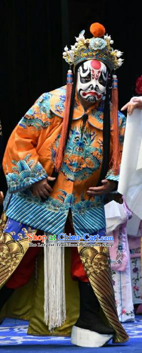 Wo Hu Ling Chinese Shanxi Opera Steward Tang Dan Apparels Costumes and Headpieces Traditional Jin Opera Martial Male Garment Takefu Clothing