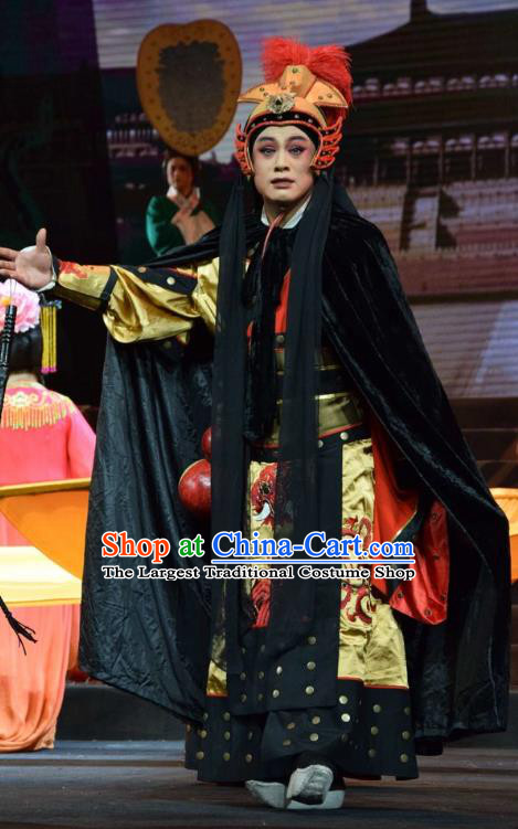 Madam Ruyi Chinese Shanxi Opera General Apparels Costumes and Headpieces Traditional Jin Opera Garment Military Official Clothing