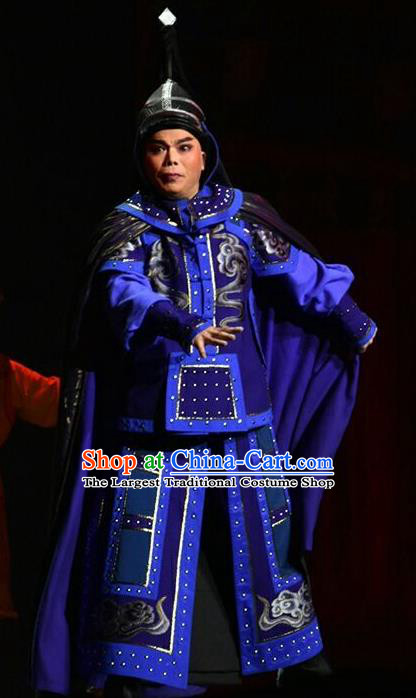 Xiaozhuang Changge Chinese Shanxi Opera Wusheng Apparels Costumes and Headpieces Traditional Jin Opera Warrior Armor Garment Qing Dynasty General Clothing