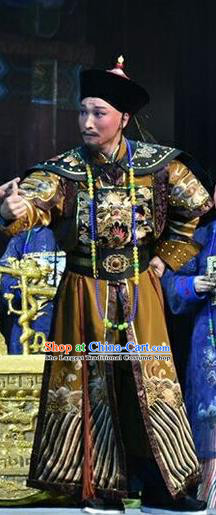 Xiaozhuang Changge Chinese Shanxi Opera Royal Highness Apparels Costumes and Headpieces Traditional Jin Opera Garment Qing Dynasty Noble Prince Clothing