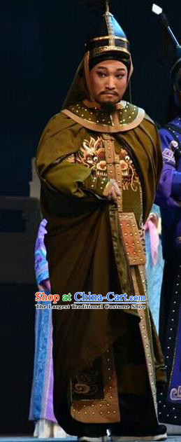 Xiaozhuang Changge Chinese Shanxi Opera Prince Apparels Costumes and Headpieces Traditional Jin Opera Warrior Garment Qing Dynasty General Clothing