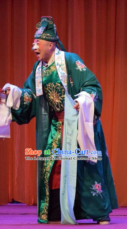 Han Yang Court Chinese Shanxi Opera Clown Apparels Costumes and Headpieces Traditional Jin Opera Childe Garment Bully Xu Meng Clothing