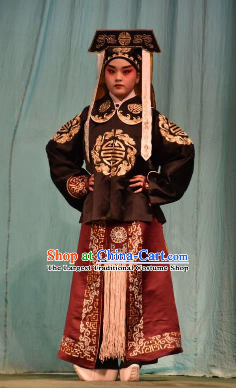 Jin Sha Tan Chinese Shanxi Opera Imperial Bodyguard Apparels Costumes and Headpieces Traditional Jin Opera Wusheng Garment Martial Male Clothing