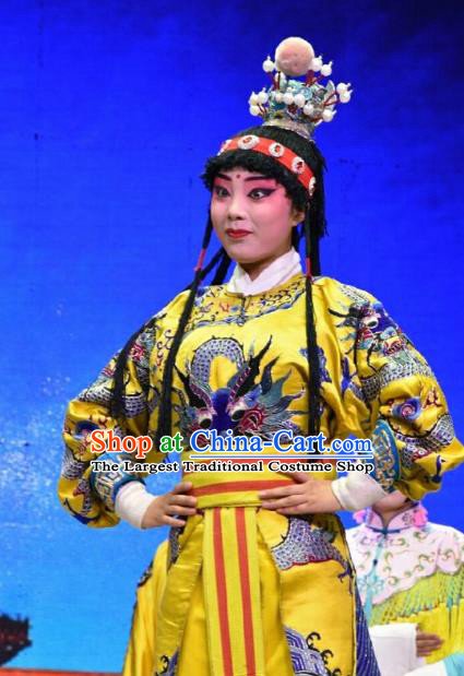 Palm Civet for Prince Chinese Shanxi Opera Young Boy Apparels Costumes and Headpieces Traditional Jin Opera Wa Wa Sheng Garment Prince Clothing