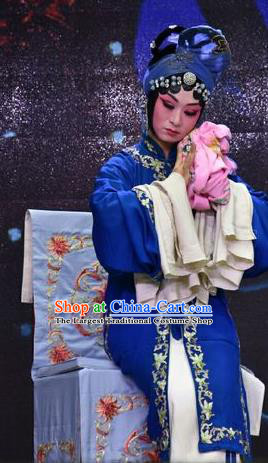 Chinese Jin Opera Imperial Concubine Li Garment Costumes and Headdress Palm Civet for Prince Traditional Shanxi Opera Tsing Yi Dress Distress Maiden Apparels