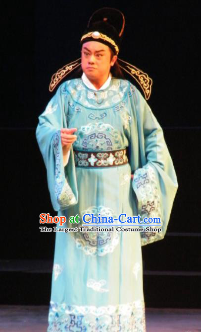 Wu Zetian Chinese Shanxi Opera Young Male Apparels Costumes and Headpieces Traditional Jin Opera Xiaosheng Garment Tang Dynasty Prince Clothing