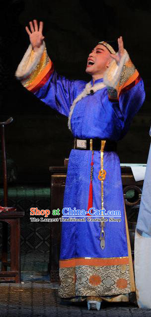 Fu Shan Jin Jing Chinese Shanxi Opera Emperor Kangxi Informal Apparels Costumes and Headpieces Traditional Jin Opera Young Male Garment Qing Dynasty Monarch Clothing